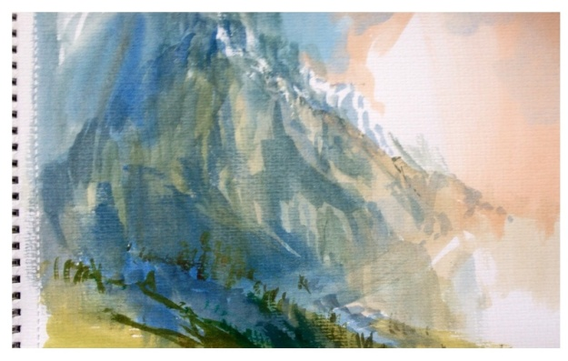 Teton Study, Watercolour, 29x21cm
