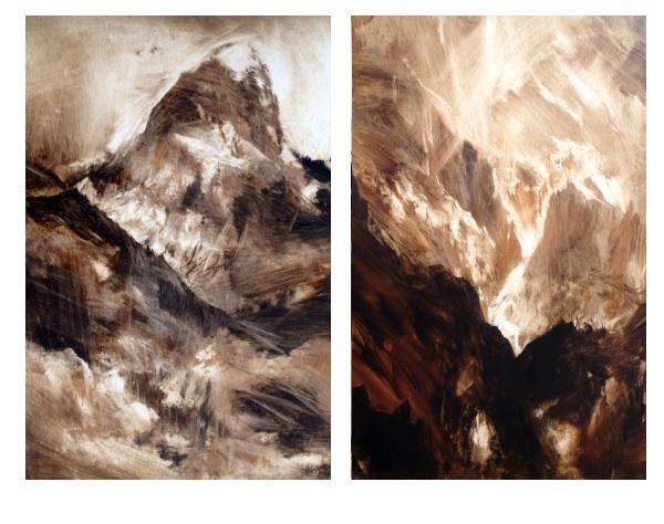 Teton work in progress, 80x60cm