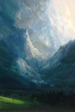 The Teton Sunset 40x60cm Oil Painting