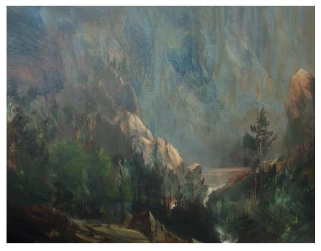 Teton Pool Oil Painting 80x60cm