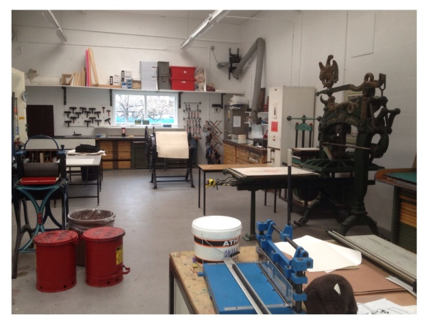 Bolton University Printroom, Oct 2013