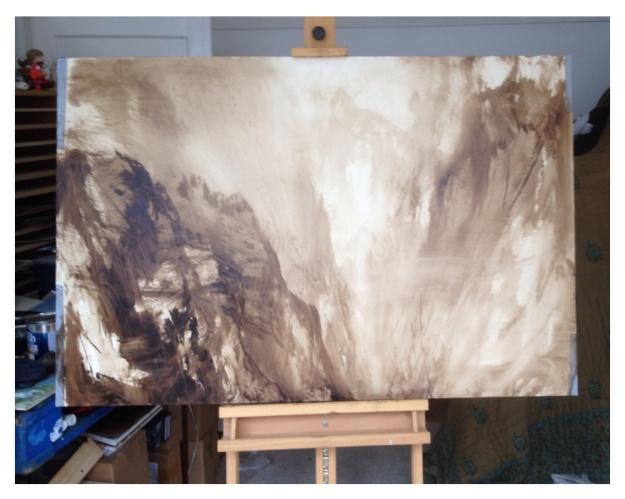 Canyon monochrome sketch