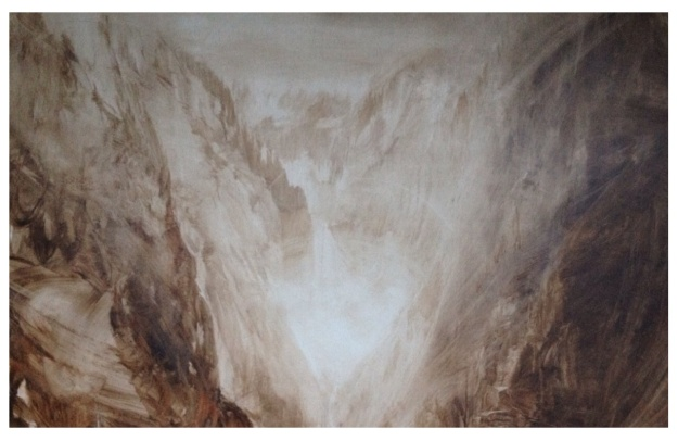Canyon monochrome sketch.
