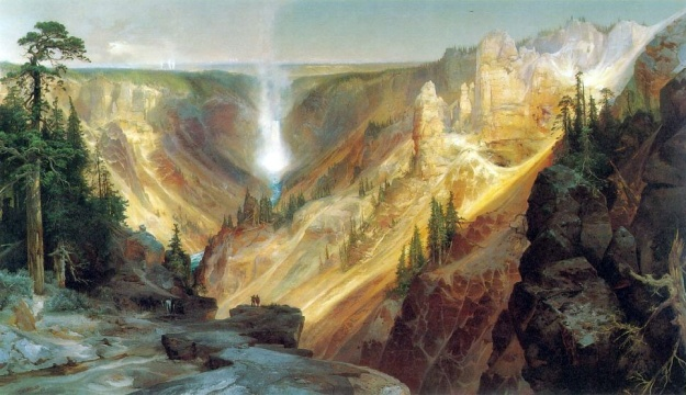 The Grand Canyon of the Yellowstone, oil painting, The Smithsonian American Art Museum