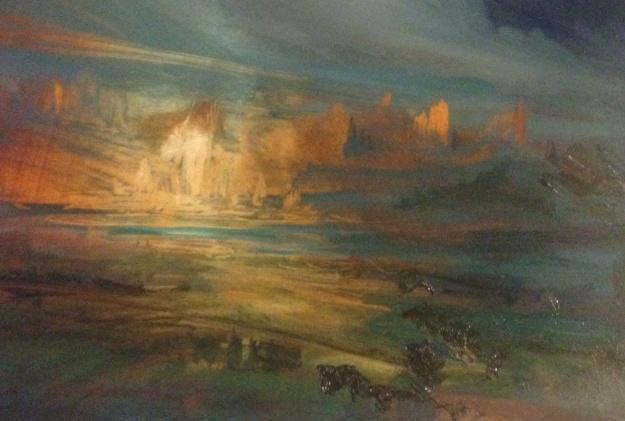 'Green River Evening' Oil 35x26cm