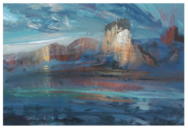 Tollgate Reflections 18x14cm, Oil