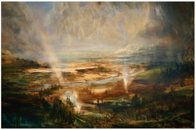 """""""The Wonders Of Yellowstone"""" Oil 6ftx4ft"""