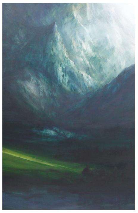 'Teton in the Sky', Oil 6ftx4ft