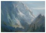 Teton Sketch, Oil 20x15cm