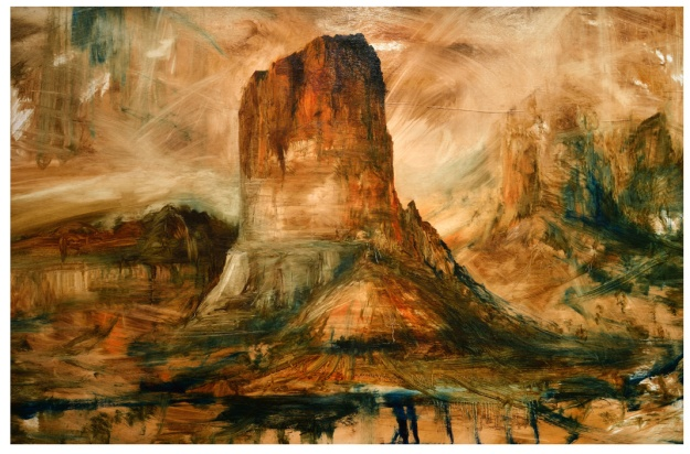Tollgate Rock, study in Oil 6ft x 4ft