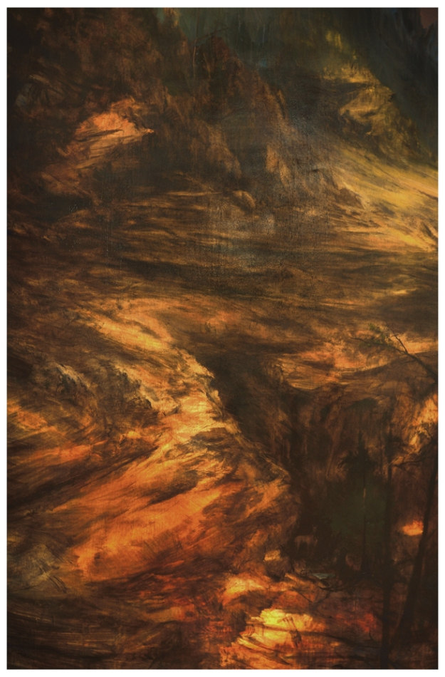 'Yellowstone Canyon Shelter' Oil 6ftx4ft